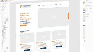 Agence web idealcoms : exemple de conception web, wireframe site web