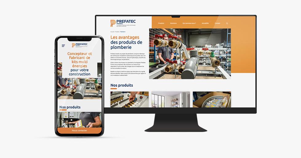 Nouveau site Prefatec France, une réalisation web idealcoms.
