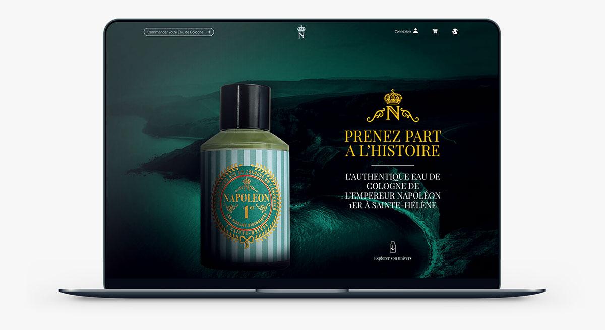 napoleon-cologne.fr : une réalisation web idealcoms