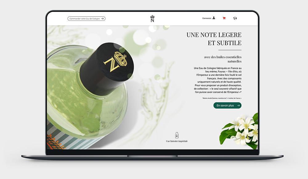 napoleon-cologne. fr : siteinternet réalisé par idealcoms, agence web